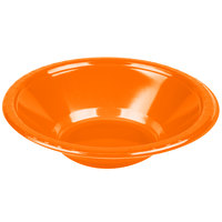 Creative Converting 28191051 12 oz. Sunkissed Orange Plastic Bowl - 240 / Case