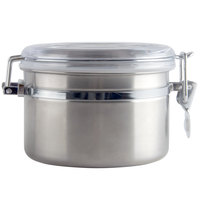 26 oz. Stainless Steel Ingredient Storage Canister with Clear Plastic Lid