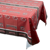 Creative Converting 724890 54 inch x 108 inch University of South Carolina Plastic Table Cover - 12/Case