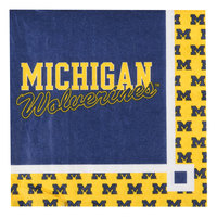 Creative Converting 654715 University of Michigan 2-Ply Beverage Napkin - 240/Case