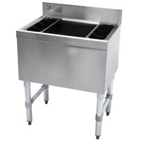 Advance Tabco SLI-16-36-10 Stainless Steel Underbar Ice Bin with 10-Circuit Cold Plate - 36 inch x 18 inch