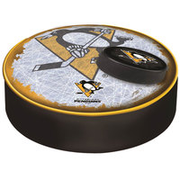 Holland Bar Stool BSCPitPen-D2 14 1/2 inch Pittsburgh Penguins Vinyl Bar Stool Seat Cover