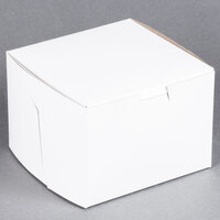 "Southern Champion 902 5 1/2"" x 5 1/2"" x 4"" White Cake / Bakery Box - 250/Bundle"
