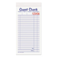 Adams ABF10450SW 2-Part White / Canary Carbonless Guest Check Set - 500/Pack