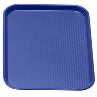 Navy Blue Cambro 1014FF186 10 inch x 14 inch Customizable Fast Food Tray 24/Case