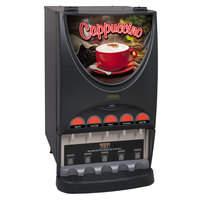 Bunn 37000.0020 iMIX-5 BLK Powdered Cappuccino Dispenser with 5 Hoppers - 120V