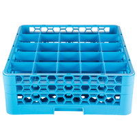 Carlisle RG25-214 25 OptiClean Compartment Glass Rack with 2 Extenders