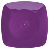 Fineline 1508-PRP Renaissance 7 1/2 inch Purple Square Salad Plate   - 10/Pack