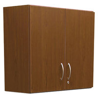 Alera Plus AAPBR181CY 36 inch x 14 inch x 30 inch Cherry Hospitality Wall Cabinet with Two Doors