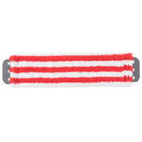 Unger MD40R SmartColor MicroMop 7.0 16 inch Red Wet / Dry Mop Pad