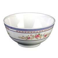 Rose 25 oz. Round Melamine Rice Bowl - 12/Case
