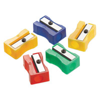 Westcott ACM15993 Assorted Color Manual Pencil Sharpeners - 24/Pack