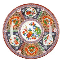 Peacock 7 7/8 inch Round Melamine Plate - 12 / Pack