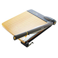 Westcott ACM15107 TrimAir 25 inch x 14 inch 30 Sheet Titanium Guillotine Paper Trimmer with Wood Base