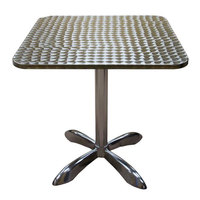 American Tables & Seating AL3030 27 1/2 inch Square Aluminum Table