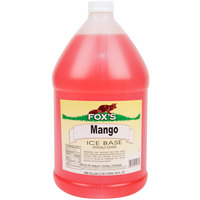 Fox's 1 Gallon Mango Italian Ice Syrup Base - 4/Case