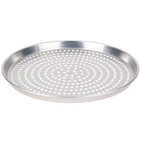 American Metalcraft SPHADEP7 7 inch x 1 inch Super Perforated Heavy Weight Aluminum Tapered / Nesting Deep Dish Pizza Pan