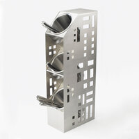 Cal Mil 1605-55 Squared Stainless Steel 3-Cylinder Display – 5 inch x 8 inch x 20 1/2 inch