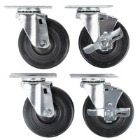 Vollrath 38099 4 inch Swivel Casters for Vollrath ServeWell Hot and Cold Food Tables - 4/Set