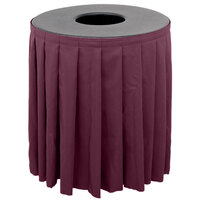 Buffet Enhancements 1BCTV44SET Black Round Topper with Burgundy Skirting for 44 Gallon Trash Cans