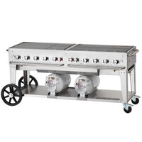 Crown Verity CCB-72 72 inch Outdoor Club Grill with 2 Horizontal Propane Tanks
