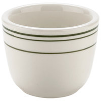 Tuxton TGB-045 Green Bay 4.5 oz. Green Band Chinese / Asian Tea Cup - 36/Case