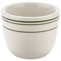 Tuxton TGB-045 Green Bay 4.5 oz. Green Band Chinese / Asian Sake Tea Cup - 36/Case