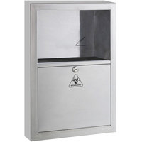 Bobrick B-350169 5.4 Qt. Stainless Steel Surface-Mounted Sharp Disposal