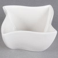 American Metalcraft SQVY2 Squavy 2.1 oz. White Wave Porcelain Condiment Cup