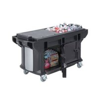 Cambro VBRUTHD5110 Black 5' Versa Ultra Work Table with Storage and Heavy-Duty Casters