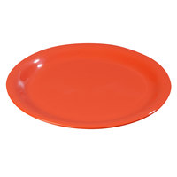 Carlisle 3301052 Sierrus 10 1/2 inch Sunset Orange Wide Rim Melamine Plate - 12/Case