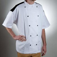 Chef Revival J031-2X Chef-Tex Size 52 (2X) Customizable Poly-Cotton Bermuda Chef Jacket