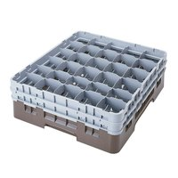 Cambro 30S638167 Camrack Brown 30 Compartment 6 7/8 inch Glass Rack