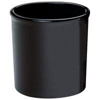 Cal-Mil 1950-32-13 Black 32 oz. Round Melamine Condiment Jar
