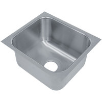 Advance Tabco 1824A-14 1 Compartment Undermount Sink Bowl 18 inch x 24 inch x 14 inch