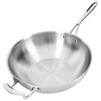 "Vollrath 49418 Miramar Display Cookware 12"" Stir Fry Pan with Helper Handle"