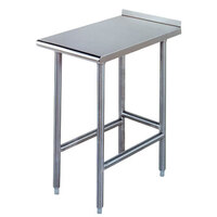 Advance Tabco TFMS-150 15 inch x 30 inch Equipment Filler Table