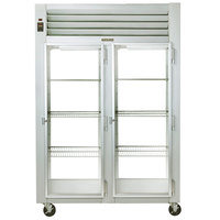 Traulsen G21017P 2 Section Glass Door Pass-Through Refrigerator - Right / Right Hinged Doors
