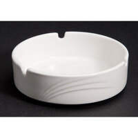 CAC GAD-AT Garden State 4 1/2 inch Bone White Porcelain Ashtray - 72/Case