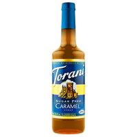 Torani 750 mL Sugar Free Caramel Flavoring Syrup