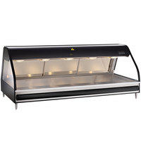Alto-Shaam ED2-72/PR BK Black Heated Display Case with Curved Glass - Right Self Service 72 inch