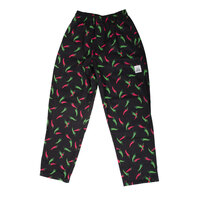 Chef Revival P040PP Size S Pepper Print Pattern EZ Fit Chef Pants - 100% Cotton