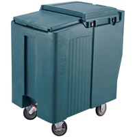 Cambro ICS175T192 Granite Green Sliding Lid Portable Ice Bin - 175 lb. Capacity Tall Model