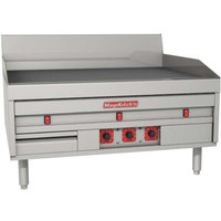MagiKitch'n MKE-24-E 24 inch Electric Countertop Griddle with Thermostatic Controls - 208V, 3 Phase, 11.4 kW