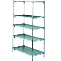 Metro 5A457K3 Stationary Super Erecta Adjustable 2 Series Metroseal 3 Wire Shelving Unit - 21 inch x 48 inch x 74 inch