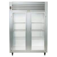Traulsen RHT232DUT-FHG Stainless Steel 42 Cu. Ft. Two Section Glass Door Narrow Reach In Refrigerator - Specification Line