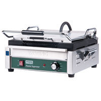 Waring WPG250 14 1/2 inch x 11 inch Panini Supremo Grooved Top & Bottom Panini Sandwich Grill 120V