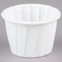 Dart Solo SCC075 .75 oz. White Paper Souffle / Portion Cup - 5000/Case