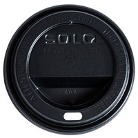 Dart Solo TL31B2-0004 10 oz. Black Plastic Travel Lid - 1000 / Case