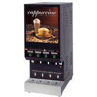 Cecilware GB4M5.5-LD Space Saver Series Four Hopper Powdered Cappuccino Dispenser with Illuminated Front - 120V
